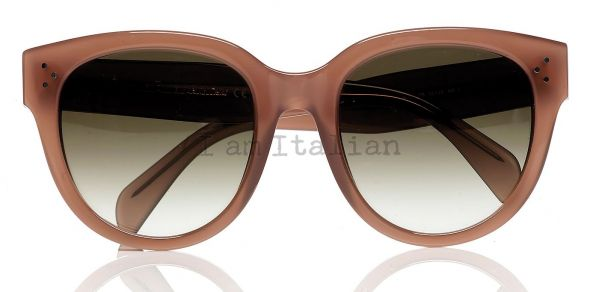 Céline new Audrey rounded sunglasses pink