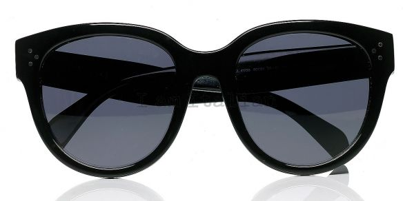 Céline Audrey rounded sunglasses black
