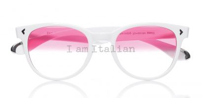 IamItalian sunglasses Limited Edition silver mirror pink lenses