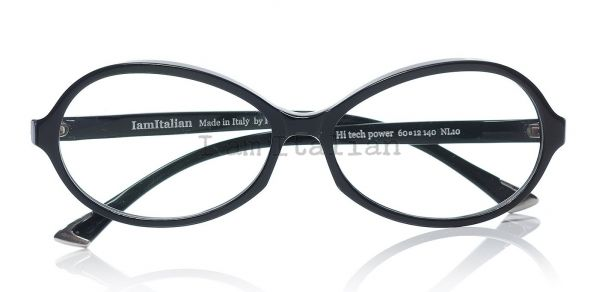 IamItalian Oval shape eyeglasses deep black limited edition