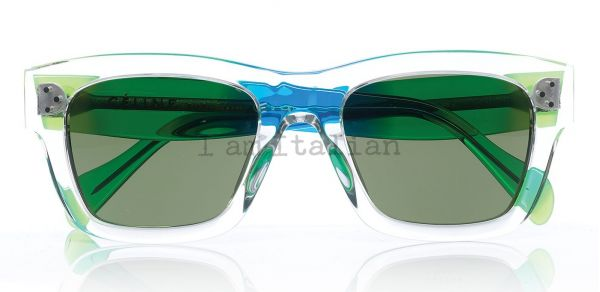 Céline sunglasses transparent with green temples