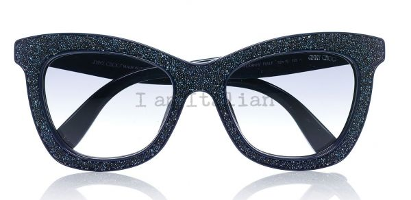 Jimmy Choo sunglasses sparkling blue night