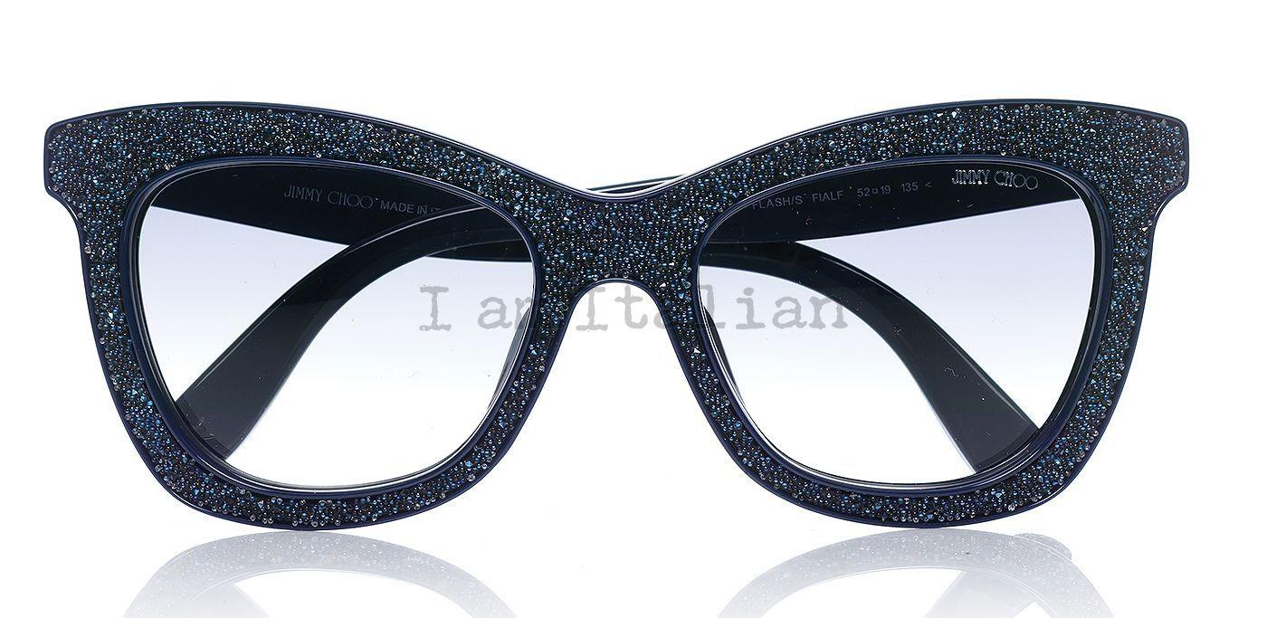 Jimmy choo sparkling sunglasses in blue night