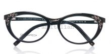Dsquared eyeglasses vintage cat eye black gold  on IamItalian.com - Worldwide Shipping