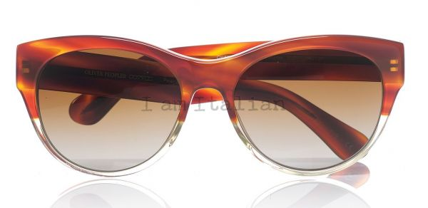Oliver Peoples tortoise transparent sunglasses