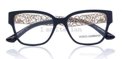 Dolce&Gabbana filigrana gold eyeglasses black 2014