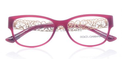 Dolce&Gabbana gold filigrana bordeaux eyeglasses 2014