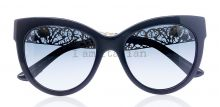 Dolce&Gabbana gold filigrana cat eye sunglasses black on IamItalian.com - Worldwide Shipping