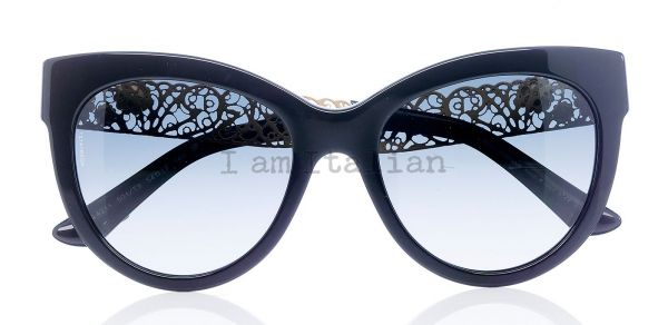 Dolce Gabbana Cat Eye Sunglasses  dolce gabbana gold filigrana cat eye sunglasses black 2016