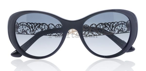 Dolce&Gabbana gold filigrana round cat eye sunglasses 2014