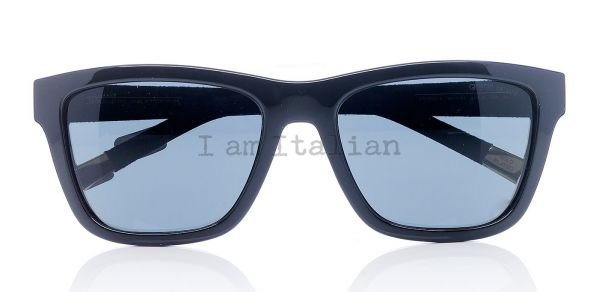 Giorgio Armani rectangular black sunglasses gold plated