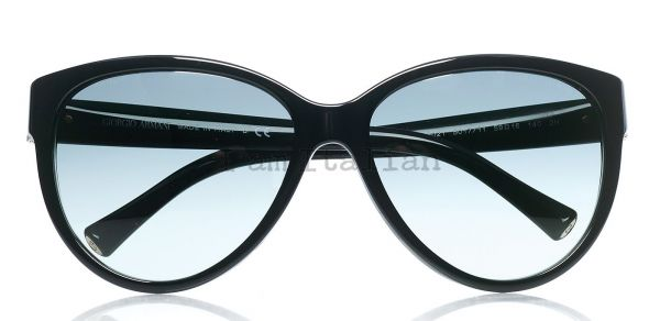 Giorgio Armani sunglasses cat eye black metal details