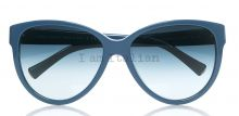 Giorgio Armani sunglasses cat eye blue indigo metal details on IamItalian.com - Worldwide Shipping