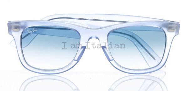 Rayban wayfarer gloss ice blue sunglasses