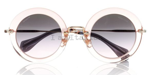 miumiu pink transparent sunglasses