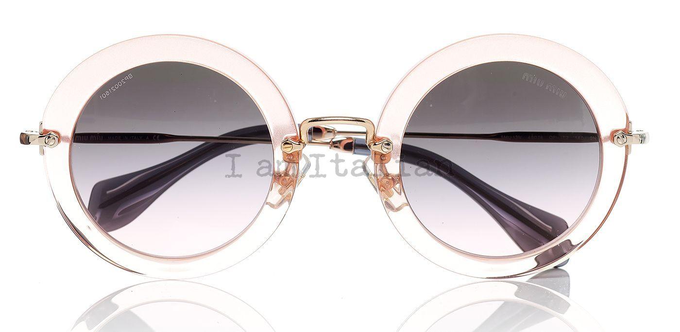 Miu Miu Sunglasses Round  miu miu woman fashion sunglasses and eyeglasses iamitalian