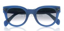 Céline round blue sunglasses green lenses on IamItalian.com - Worldwide Shipping