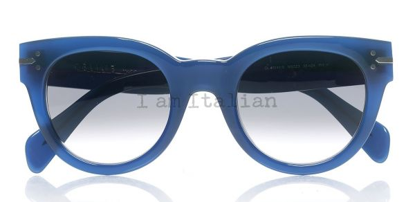 Céline round blue sunglasses crystal lenses