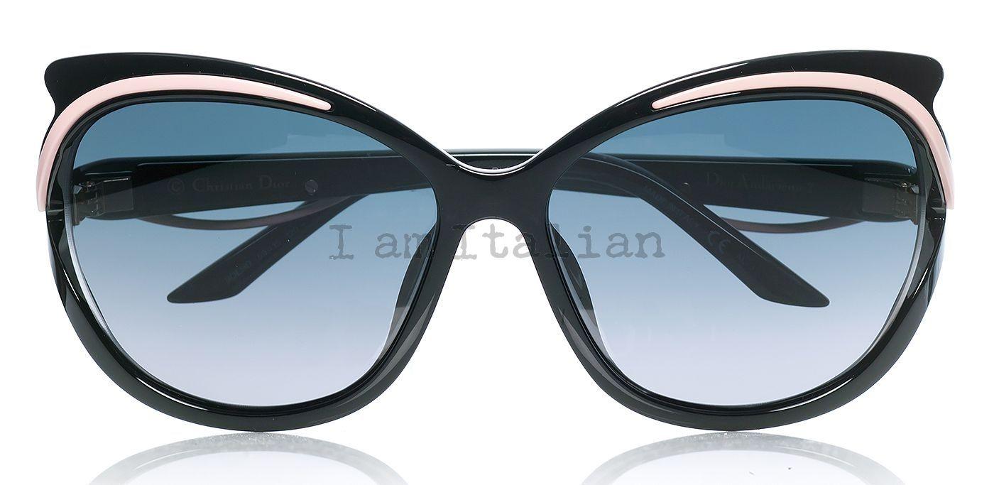 b2e22839be2a Dior black pink butterfly sunglasses 2014 on IamItalian.com - Worldwide  Shipping ...