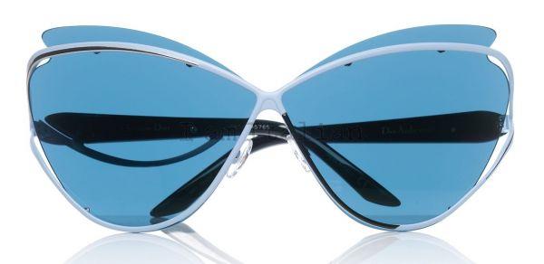 Dior runway sunglasses metal blue