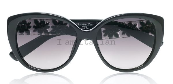 Dior black butterfly sunglasses crystal temples