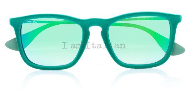 Rayban velvet green squared sunglasses