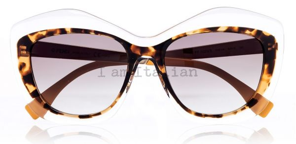 Fendi catwalk transparent sunglasses