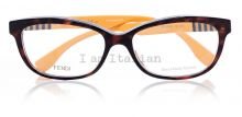 Fendi eyeglasses yellow striped temples