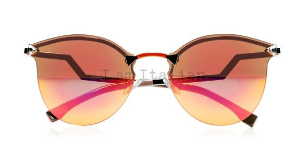 Fendi mirror sunglasses orange