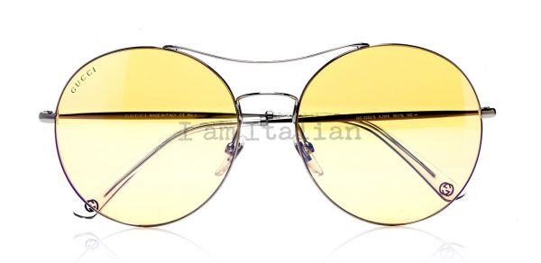 Gucci round metal sunglasses yellow
