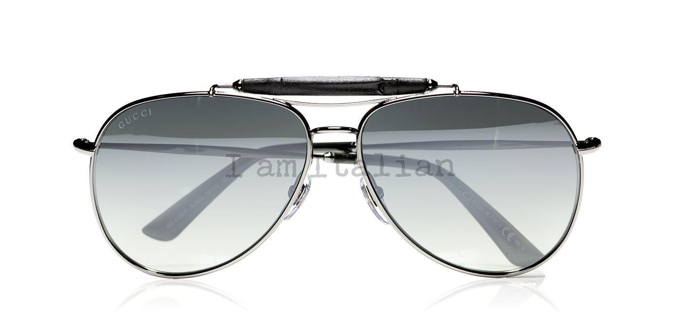 720274a7dd0 Source · Gucci bamboo black pilot unisex sunglasses
