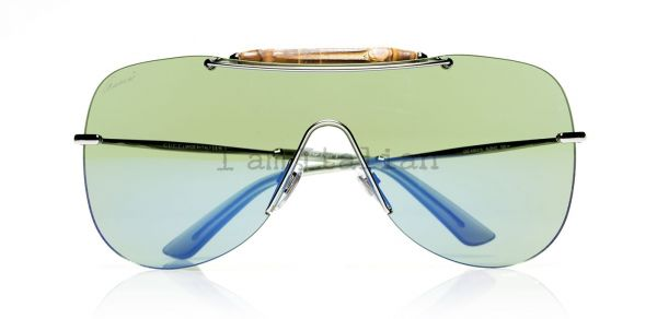 Gucci mask sunglasses bamboo green
