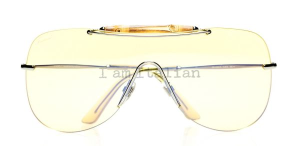 Gucci mask sunglasses bamboo yellow