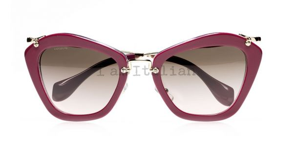 Miu Miu pink purple glitter sunglasses 2014