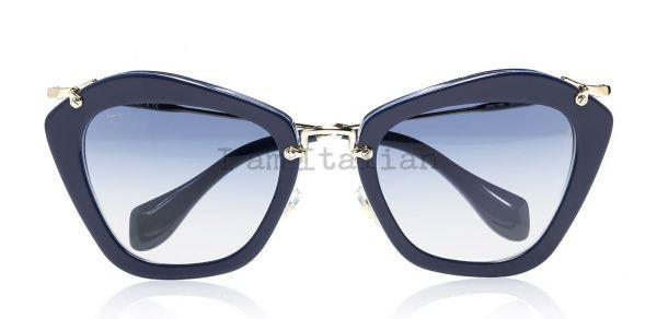 Miu Miu blue glitter sunglasses 2014