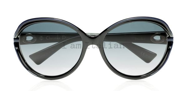 Dior round small sunglasses blue