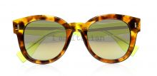 Fendi tortoise green mirror lenses