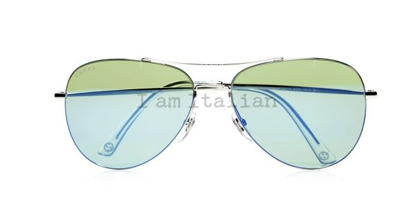 Gucci pilot sunglasses green blue
