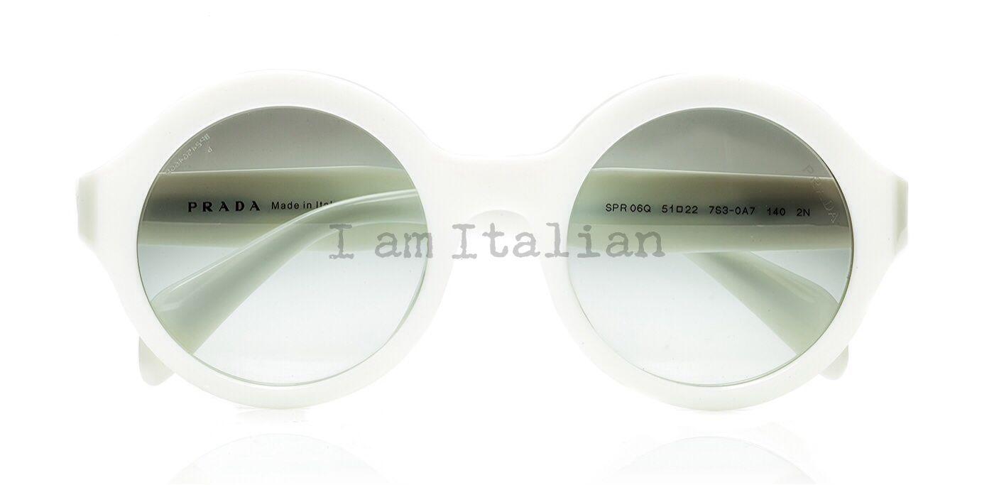 a83b37f463aa Prada round sunglasses 2014 white cream