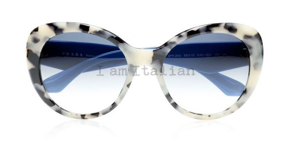 Prada butterfly voice crystals sunglasses havana blue