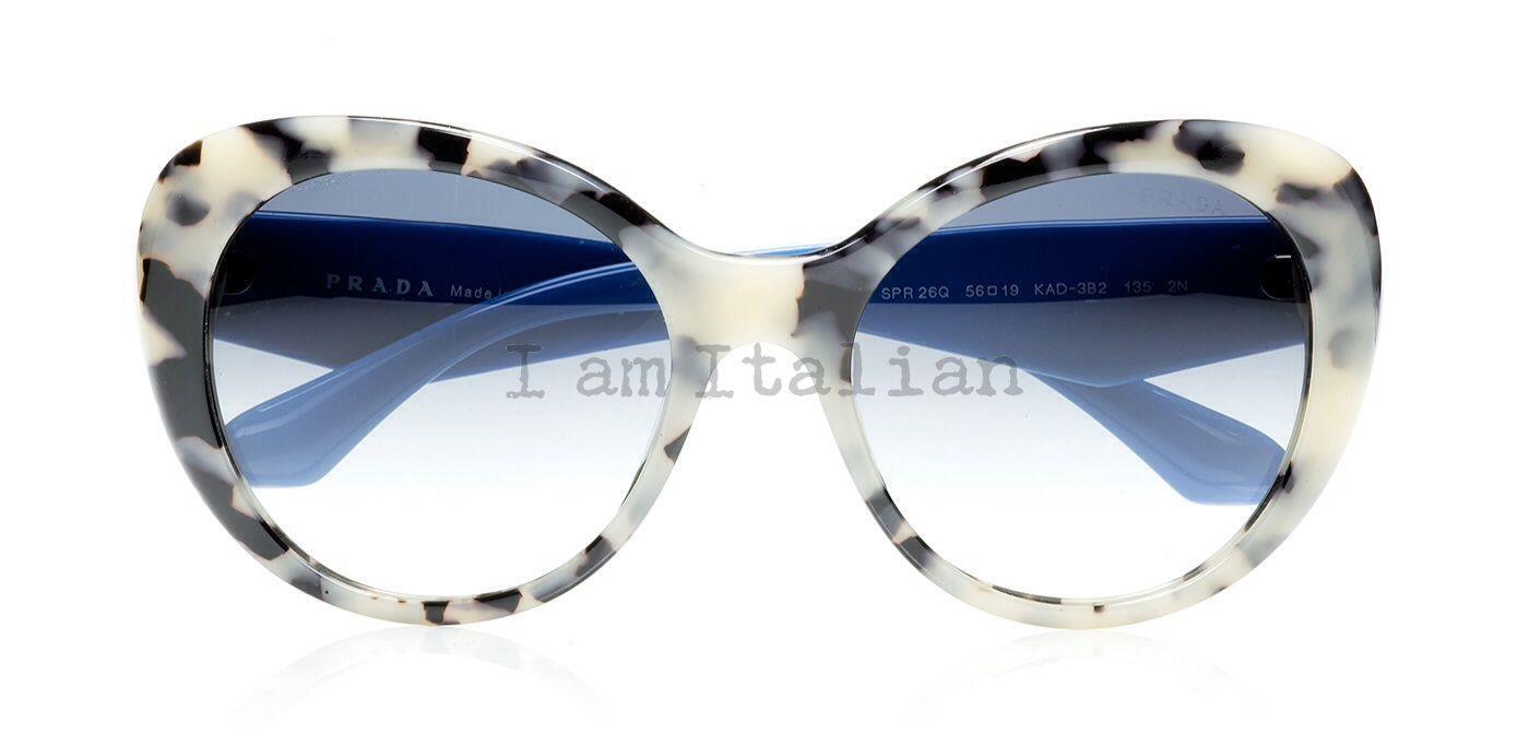 ee7473051161c ... official prada butterfly voice crystals sunglasses havana blue 9b375  9eaff