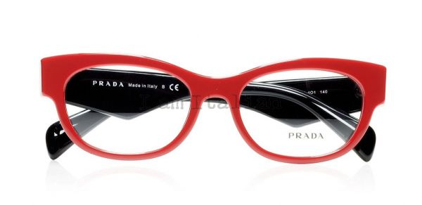 Prada voice eyeglasses red black 2014