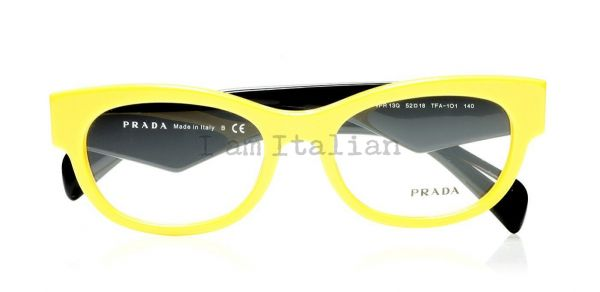 Prada voice eyeglasses yellow black 2014