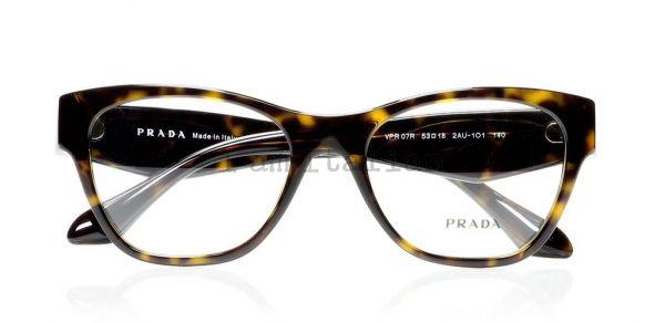Prada voice eyeglasses crystals havana
