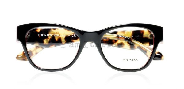 Prada voice eyeglasses crystals black red havana