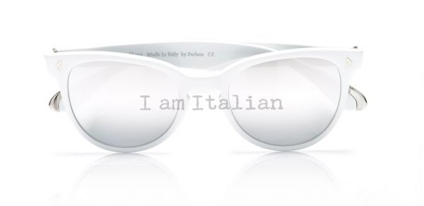 White Pantos sunglasses - iamItalian&Naty Capsule