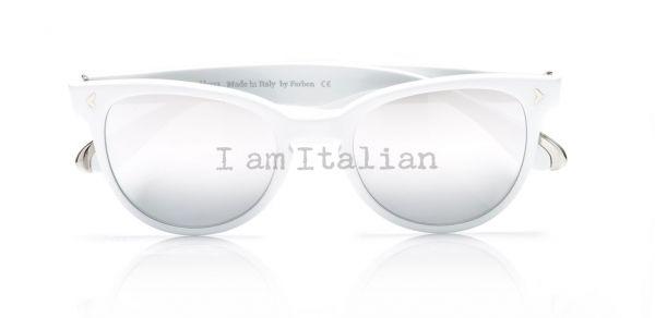 White Pantos sunglasses - iamItalian&Naty Capsule