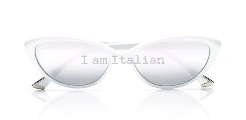 White Butterfly sunglasses - iamItalian&Naty Capsule