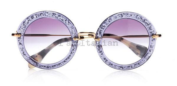 Miu Miu glitter sunglasses 2014 round purple