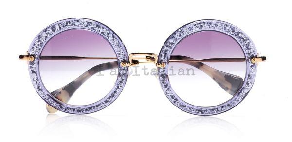 Miu Miu glitter sunglasses 2014 round purple